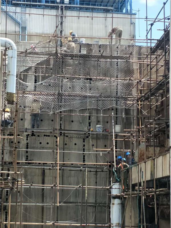 曲靖白水電廠排孔切割